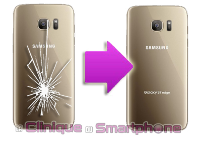 Changement vitre arrière Samsung Galaxy S7 Edge (SM-G935F) à Lyon ...