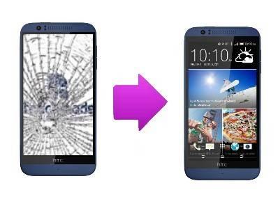 Changement vitre cassée HTC Desire 510