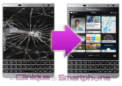 Remplacement Ecran BlackBerry Q30 sur Lyon