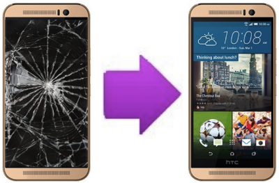 Remplacement bloc complet  tactile + LCD HTC One M9 Plus ( Lyon )