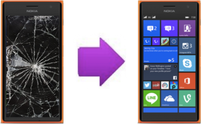 Remplacement Vitre Tactile + LCD Nokia Lumia 730 / 735