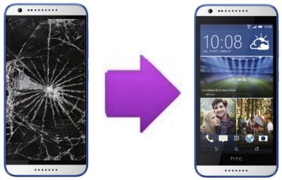 Remplacement Vitre tactile + Ecran LCD pour HTC Desire 620