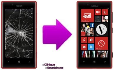 Remplacement Vitre Tactile + Ecran LCD Nokia Lumia 720 Lyon