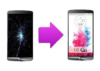 Remplacement Ecran cassé LG G3 Lyon