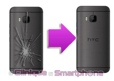 Changement coque arrière HTC ONE M9 / M9 plus à Lyon