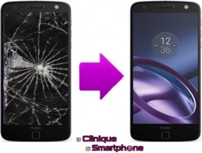 Réparation écran cassé pour Motorola Moto Z (Lenovo) Lyon