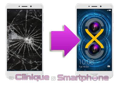 Remplacement Vitre Tactile + Ecran LCD Huawei Honor 6X