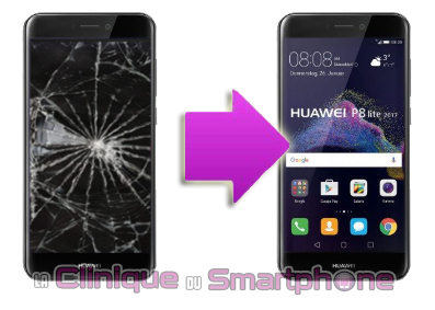 Changement LCD + vitre tactile HUAWEI P8 Lite 2017