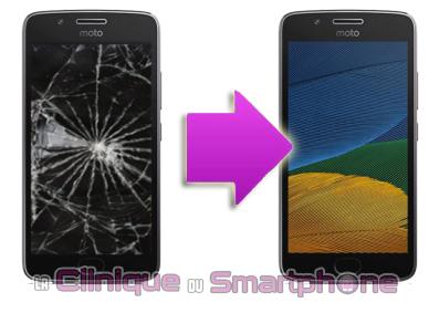 Changement LCD + Vitre tactile MOTOROLA Moto G5