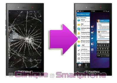 réparation LCD + vitre tactile BlackBerry Z3