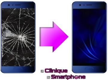 Réparation écran cassé, vitre fissurée Huawei Honor 9 à Lyon