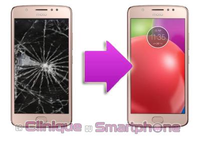 Changement écran Motorola E4 (XT1760) à Lyon