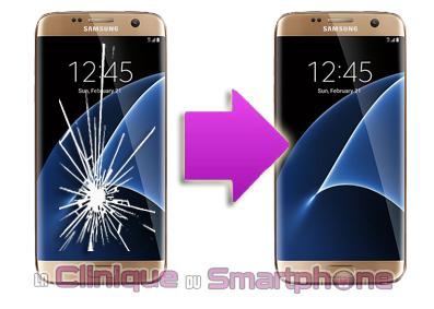 Réparation Bloc écran (Tactile + LCD) Samsung Galaxy S7 Edge