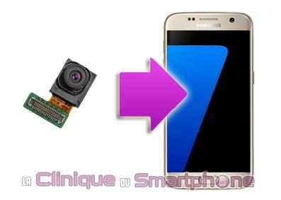Changement Objectif Avant Samsung S7 Edge dans Lyon