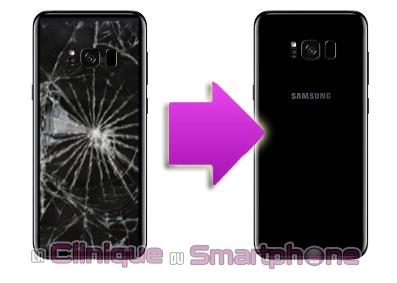 Remplacement vitre arrière Samsung Galaxy S8 / S8 + à Lyon