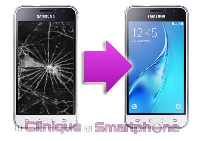 Changement vitre tactile Samsung Galaxy J1 2016 (J120) sur Lyon