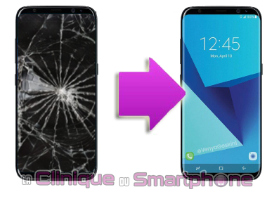 Changement LCD + vitre tactile Samsung Galaxy S8