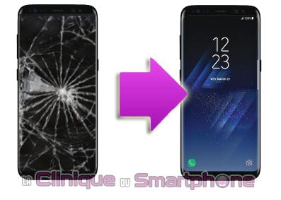 Changement bloc écran Samsung Galaxy S8+ à Lyon