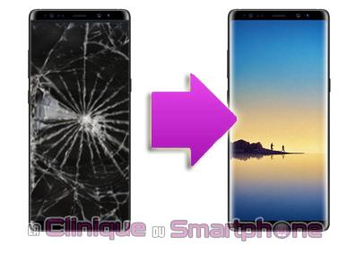 Changement Ecran cassé Samsung Galaxy Note 8 à Lyon