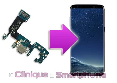 Changement connecteur de charge Samsung Galaxy S8 / S8+ à Lyon