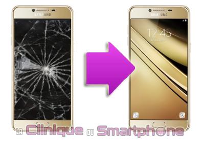 Changement bloc écran Samsung C5 C5000 à Lyon