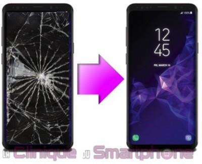 Changement bloc écran Samsung Galaxy S9 Plus à Lyon