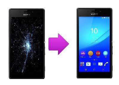Changement Vitre tactile + Ecran LCD  Sony Xperia M4 Aqua