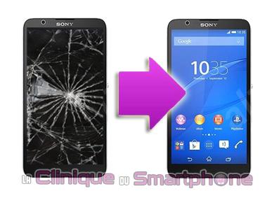 Changement écran Sony Xperia E4 ou E4 4G à Lyon