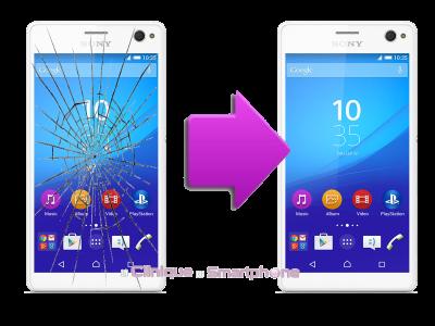 Remplacement bloc écran Sony Xperia C4