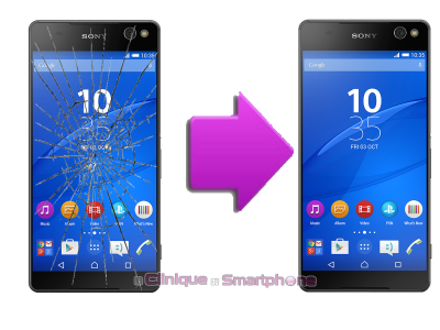 Remplacement bloc écran Sony Xperia C5 Ultra